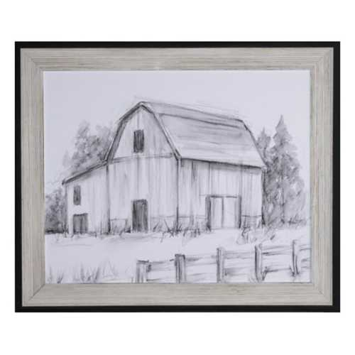 Crestview Collection Barn Sketch II Framed Print