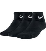 Youth Nike 3 Pack Cotton Cushion Quarter Socks