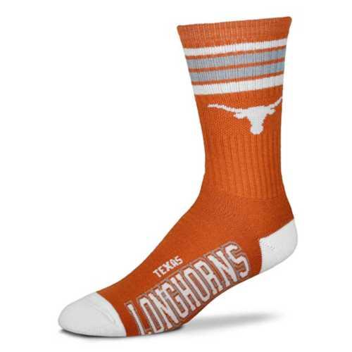 For Bare Feet Kids' Texas Longhorns 4 Stripe Deuce Crew Socks
