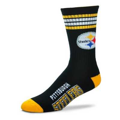 For Bare Feet Pittsburgh Steelers 4 Stripe Socks