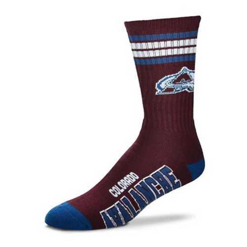 For Bare Feet Colorado Avalanche 4 Stripe Socks