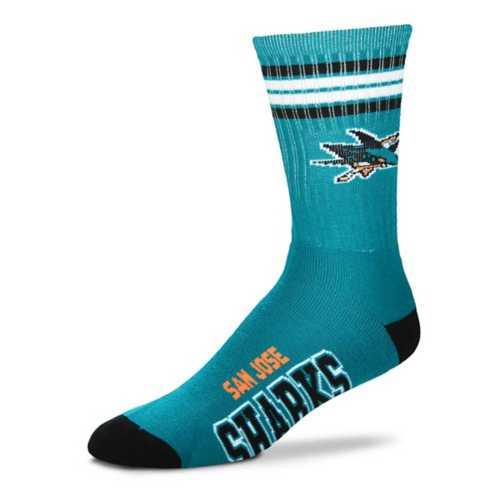 For Bare Feet San Jose Sharks 4 Stripe Socks