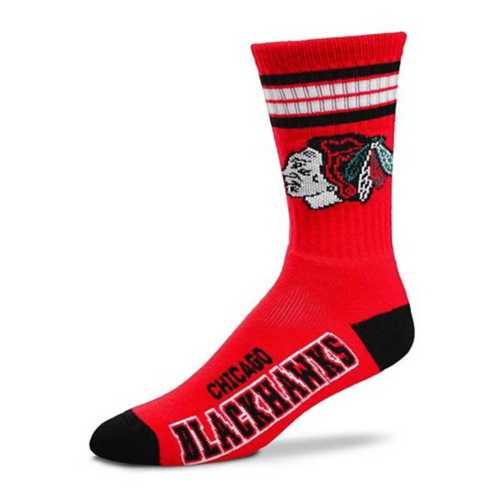 Youth For Bare Feet Chicago Blackhawks 4 Stripe Socks