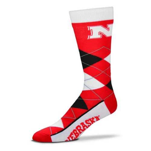 For Bare Feet Nebraska Cornhuskers Argyle Crew Socks