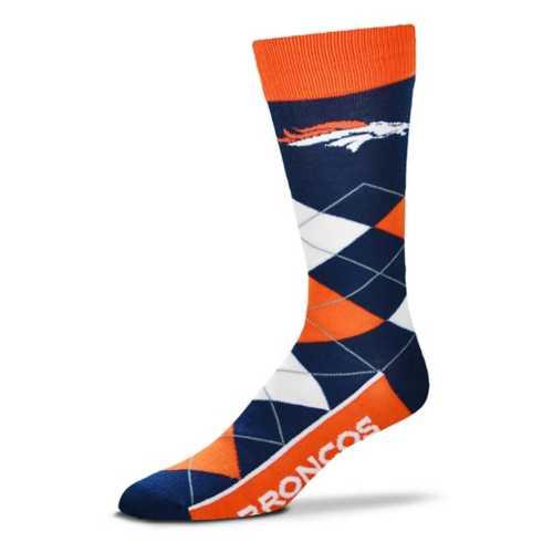 For Bare Feet Denver Broncos Argyle Crew Socks