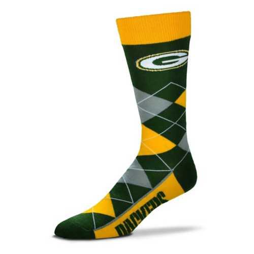 For Bare Feet Green Bay Packers Argyle Crew Socks