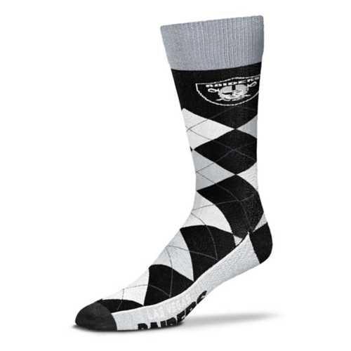 For Bare Feet Las Vegas Raiders Argyle Crew Socks