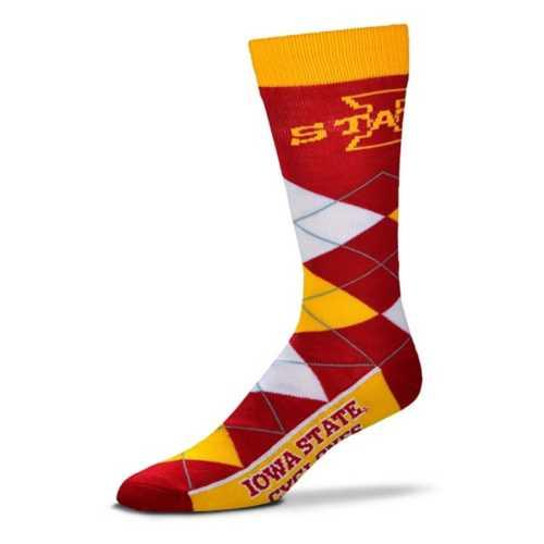 For Bare Feet Iowa State Cyclones Argyle Crew Socks