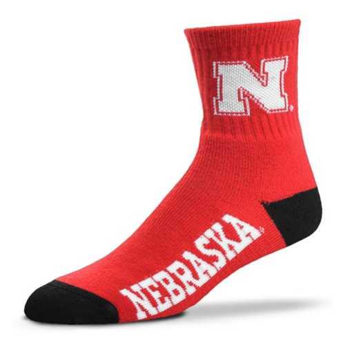 For Bare Feet Nebraska Cornhuskers Team Crew Socks