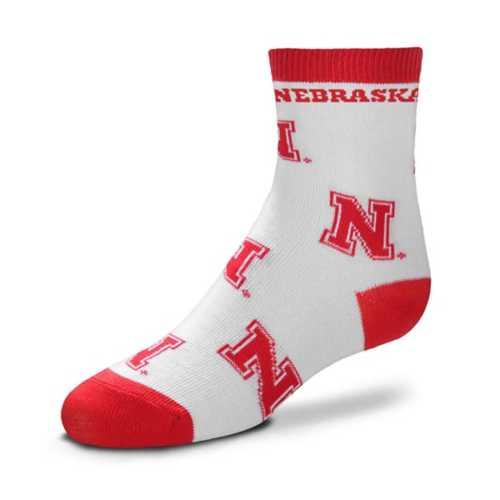 For Bare Feet Toddler Nebraska Cornhuskers Rugby Socks