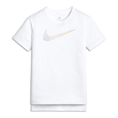 Grade School Girls' Nike Sportswear Squiggle Swoosh T-Shirt
