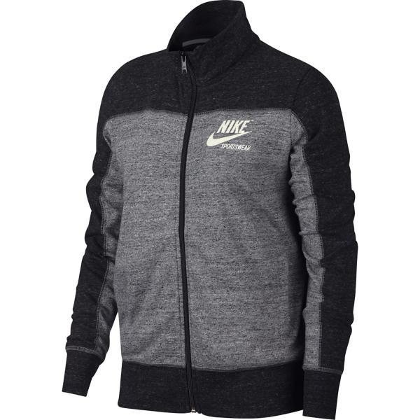 98cdb9634 Black/Carbon Heather/Cool Grey/Sail Tap to Zoom; Women's Nike Sportswear Gym  Throwback Gym Vintage Full Zip Hoodie