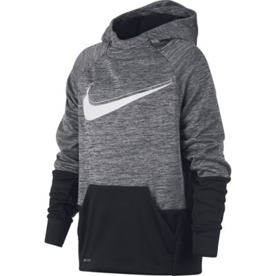 Youth Boys' Nike Therma Graphic Swoosh Training Hoodie