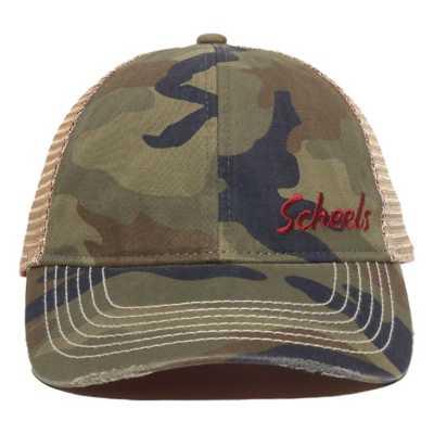Scheels Outfitters Camo Logo Cap