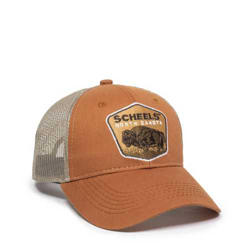 Adult SCHEELS North Dakota Patch Trucker Hat