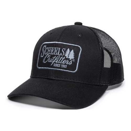 Adult Scheels Outfitters Black Graphic Trucker Hat