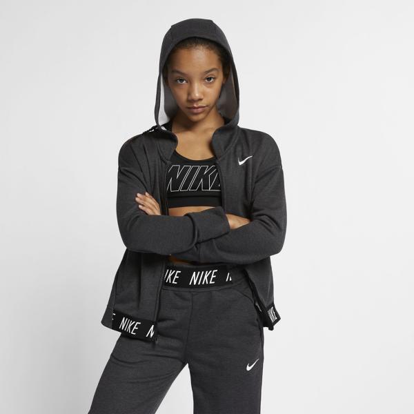 6b7dd62cb ... Nike Therma Studio Full Zip Hoodie Tap to Zoom; Black/Htr/Black/White