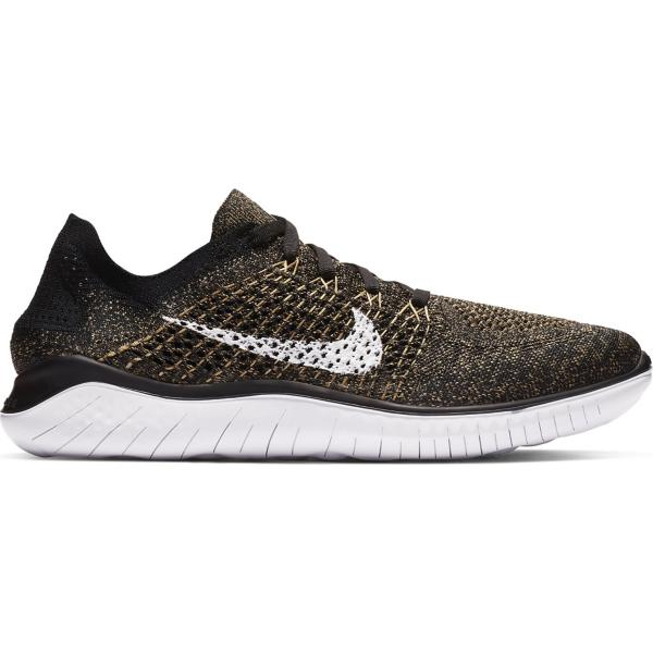 cbd3a19b9f33a Tap to Zoom  Black White-Club Gold-Red Orbit Tap to Zoom  Men s Nike Free RN  Flyknit 2018 Running Shoes