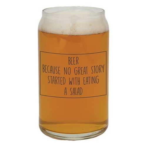 "Santa Barbara Design's ""Beer, Because"" Beer Glass"