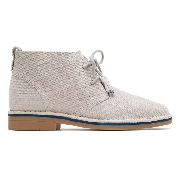 Ice Grey Embossed Suede