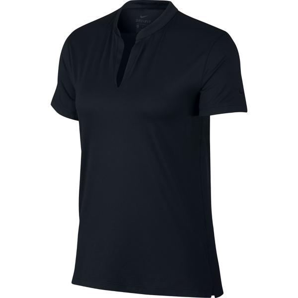 268ae7eb ... Women's Nike Dri-Fit V-Neck Golf Polo Tap to Zoom; Black/Black/Black