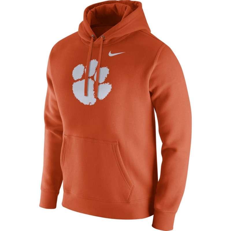 Nike Clemson Tigers Logo Club Fleece Logo Hoodie