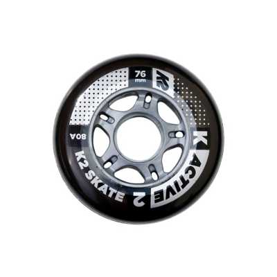 K2 Active 76MM/80A Inline Wheels 8 Pack With ILQ 5 Bearing