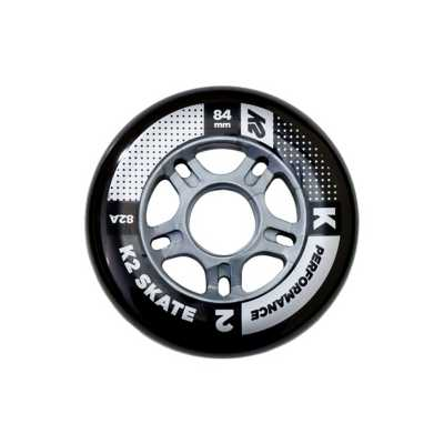 K2 Performance 84MM/82A Inline Wheels 8 Pack With ILQ 7 Beaings