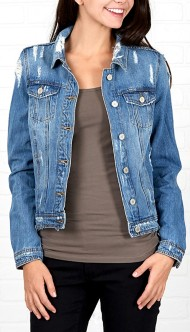 Women's Downeast Distressed Denim Jacket