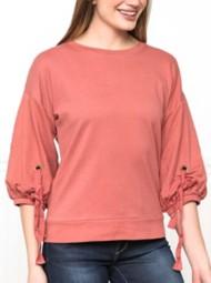 Women's Downeast Gathered Sleeve Sweatshirt