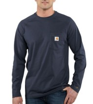 Men's Carhartt Force Cotton Delmont Long-Sleeve T-Shirt