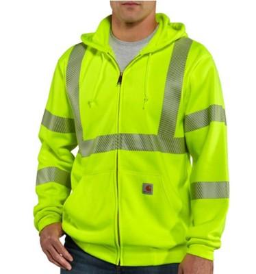Men's Carhartt High-Visibility Zip-Front Class 3 Sweatshirt