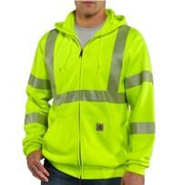 Men's Carhartt High-Visibility Zip-Front Class 3 Sweatshirt