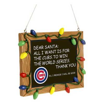 Forever Collectibles Chicago Cubs Chalkboard Ornament