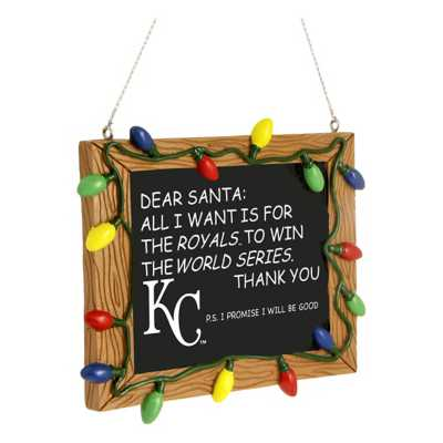 Forever Collectibles Kansas City Royals Chalkboard Ornament