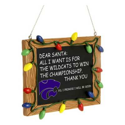 Forever Collectibles Kansas State Wildcats Chalkboard Ornament