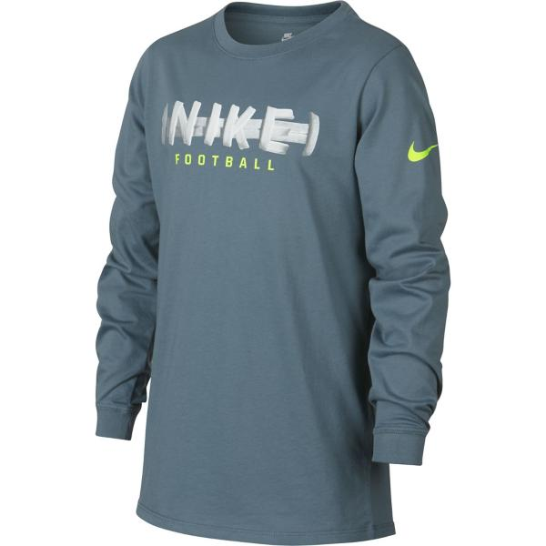 Celestial Teal Volt Tap to Zoom  Grade School Boys  Nike Sportswear  Football Lace Graphic Long Sleeve Shirt 335a2967068