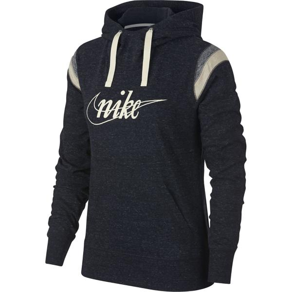 ... Women s Nike Sportswear Gym Vintage Throwback Hoodie Tap to Zoom   Black Sail be42379ad
