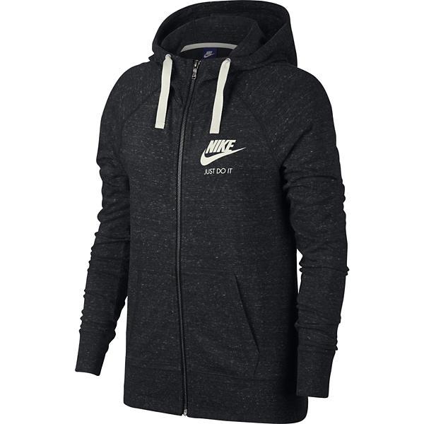 ... Women s Nike Sportswear Gym Vintage Full Zip Sweatshirt Tap to Zoom   Black 594aa919337