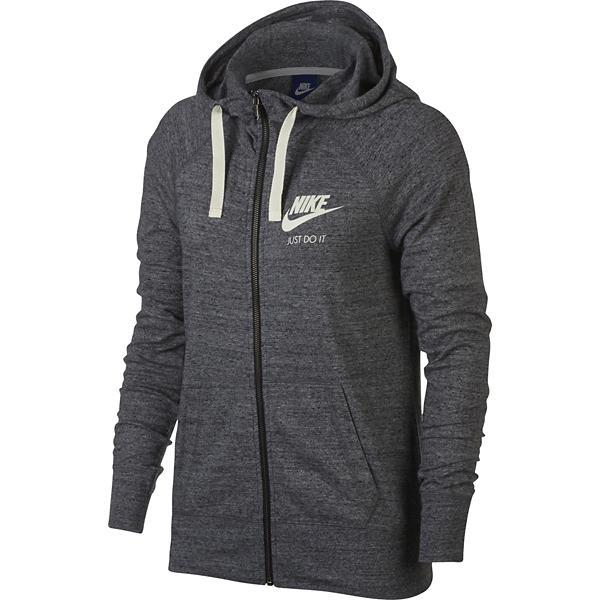 83e98283367e ... Women s Nike Sportswear Gym Vintage Full Zip Sweatshirt Tap to Zoom   Black Tap to Zoom  Carbon Heather