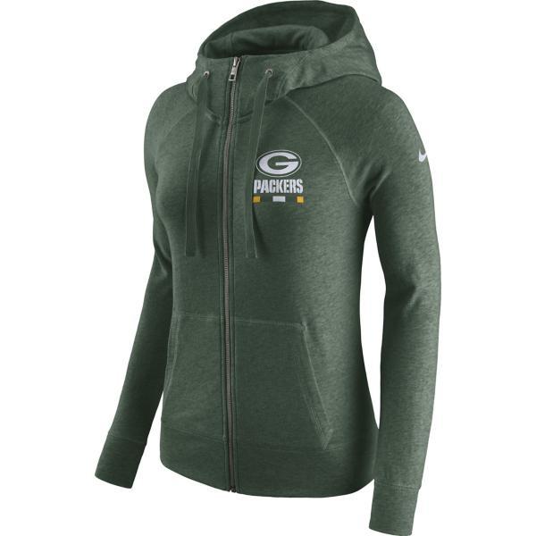 71054754ee87 Women s Nike NFL Green Bay Packers Gym Vintage Full Zip Hoodie