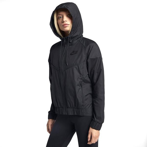 timeless design 385b5 5878a ... Womens Nike Sportswear Windrunner Full Zip Jacket Tap to Zoom Black