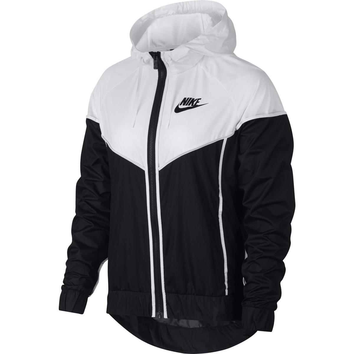 687caae9fd93 ... Women s Nike Sportswear Windrunner Full Zip Jacket  black  white black  ...