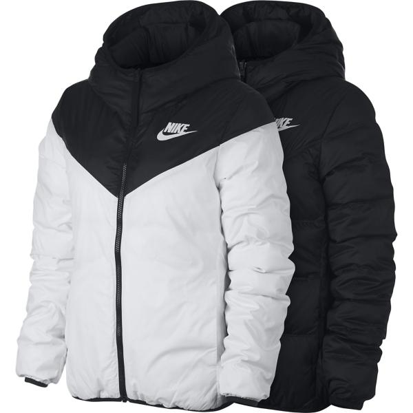 Black White White Tap to Zoom  Women s Nike Sportswear Windrunner  Reversible Down Filled Jacket 5e1c31521