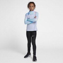 Grade School Girls' Nike Pro Warm Tie Dye Long Sleeve 1/2 Zip