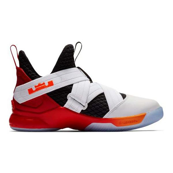 huge selection of fdc5b 387c4 Tap to Zoom  White Laser Orange Black Tap to Zoom  Grade School Nike Lebron  Soldier XII Basketball Shoes