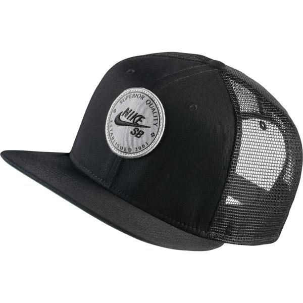 687ab64c72d ... Nike SB Logo Trucker Hat Tap to Zoom  Black Black Pine Green Black