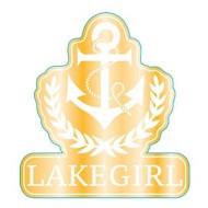 Lakegirl Anchor Sticker