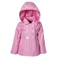 Toddler Girls' Pink Platinum Ruffles Trench Coat