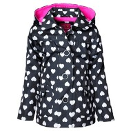 Toddler Girls' Pink Platinum Heart Print Jacket